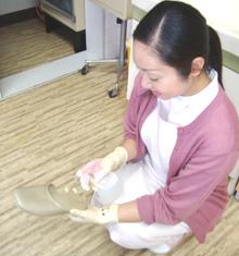 院内スリッパの殺菌処理
